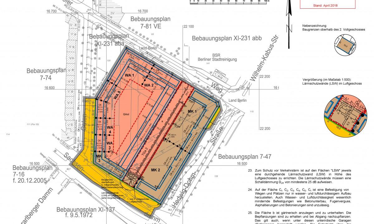 Erstaunlich Sachsendamm 20 Ideen Von Wohnungsbau/kerngebiet: Bebauungsplan Nr.7-75 – Baufeld 2/3 (teilflächen